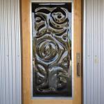 Art Glass door by local Frank Zika