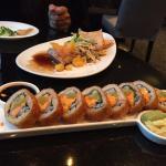 tuna tatake and crispy tuna sushi roll