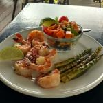 Shrimp w/sweet potato salad
