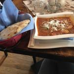 Amazing soup with delicious bread. The server and owners were very casual and sat with us most o