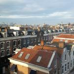 The view from our room over the rooftops of Amsterdam