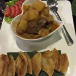 Massaman curry chicken with roti chennai