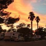 Spring sunset at Sam's Town KOA.