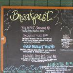 Breakfast menu board