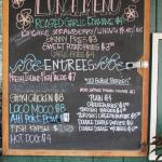Lunch menu board