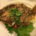 Fried flounder with sweet Thai chili sauce