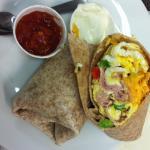 Green Elephant breakfast wrap