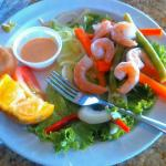 The shrimp salad was awesome.  Definitely recommend.  Great place for seafood lovers. Looks like
