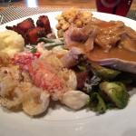Thanksgiving buffet.