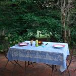 Our outside dining table