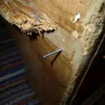 Nail sticking out of dresser - Great for a family room!