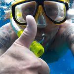 Eine Schnorcheltour kostet 20€ und ich bin mit ca. 8 Delfinen geschwommen! Hammer!
