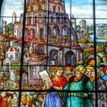 Stain glass and beautiful paintings