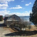 A view out the back window towards lake Champlain