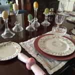 Easter breakfast setting