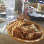 bacon/cheese/sandwhich plate