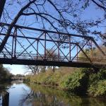 Iron bridge over an Illinois canal.