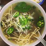 Fee fi #pho fum !!! Super yum. 👌🏻 I'm a tough soup critic and I approve .
