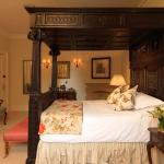Classically luxurious four-poster beds