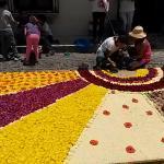 Carpetas de flores, Celebración Semana Santa