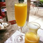 Mimosa with fresh squeezed orange juice!