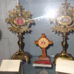 reliquaries in the museum like the ones found inside the church.