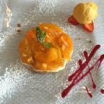 Abricot rôti à la prunelle de Troyes