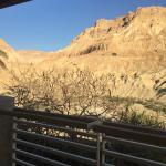 Vista al desierto y a los wadi - espectacular