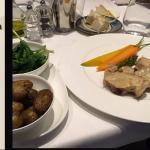 Tuna carpacio, lamb breast, terimisu