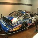 Kenseth's wrecked Nationwide car