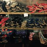 piles and piles of beautiful handcrafted sandals