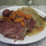 Chef Mark's corned beef & cabbage.