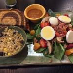 We split an order: Irmgard's Reuben, Spinach Salad & Quinoa