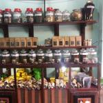 Many different teas to choose from.
