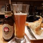 Hitachino Classic Ale and Mango and Avocado Egg Roll