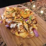 Chicken flat bread at the bar