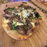 Steak flat bread at the bar - my favorite