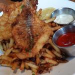 Fish & Chips, light batter, tender & flaky. Great!
