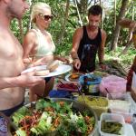 Group picnic and surf