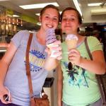 Blueberry ice cream is a good choice!