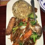 Black Pepper Chicken, Bee and Broccoli, Vietnam Eggplant and Chicken Fried Rice