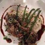 Eminé de veau aux morilles et risotto