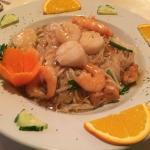 Shrimp & Scallops over Pad Thai Noodles