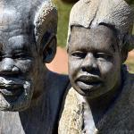 at the (Zimbabwean) art market along William Nicol Drive