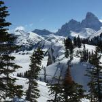 Tetons as seen from Grand Targhee