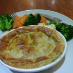 Perfectly cooked veg and very tasty pie