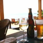 Afternoon drinks in the outdoor bar overlooking the ocean