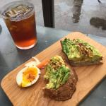 Avocado toast & iced tea