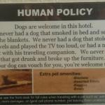 Pet friendly and a funny way to state it!