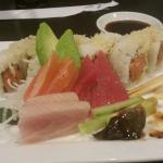This was my Sushi Lunch Combo. Sashimi with tuna, yellowtail, salmon, unagi eel, and spicy tuna